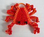 crabe en scoubidous